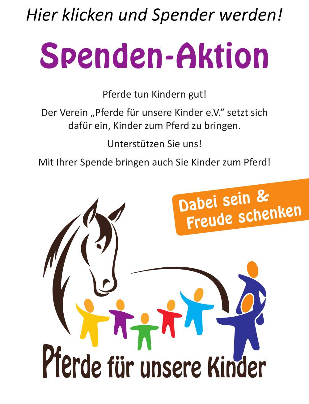 """Pferde für unsere Kinder e.V.""-Spendenaktion"