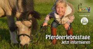 Pferdeerlebnistage 2018 - Ein Projekt von Pferde für unsere Kinder e.V. in Kooperation mit den Persönlichen Mitglieder der FN