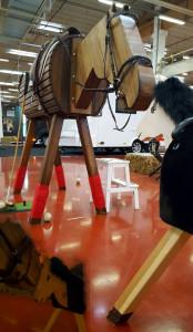Pferde fuer unsere Kinder e.V.-Holzpferde bei der Pferdemesse Horsica 2016