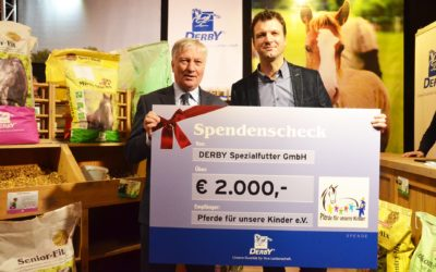 """Derby spendet 2.000 Euro an """"Pferde für unsere Kinder e.V."""""""
