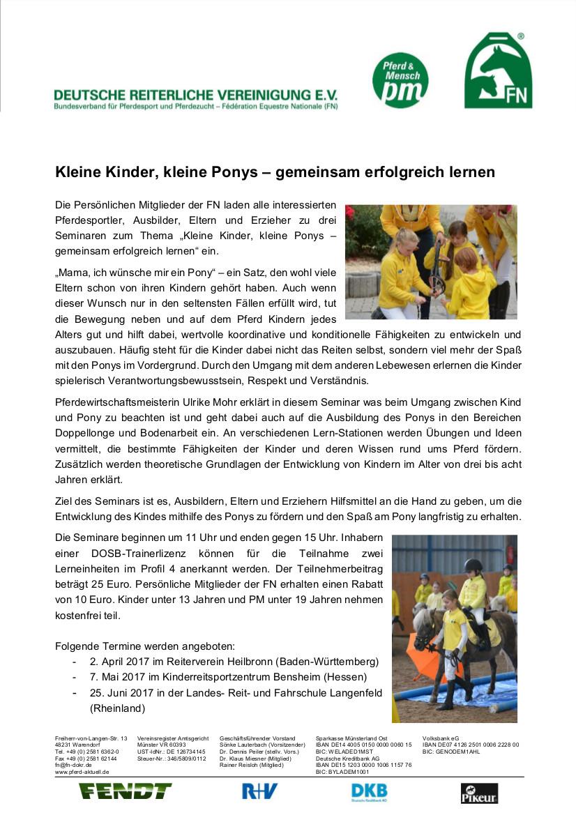 Einladung Kleine Kinder, Kleine Ponys mit Ulrike Mohr (Bilder) (3)