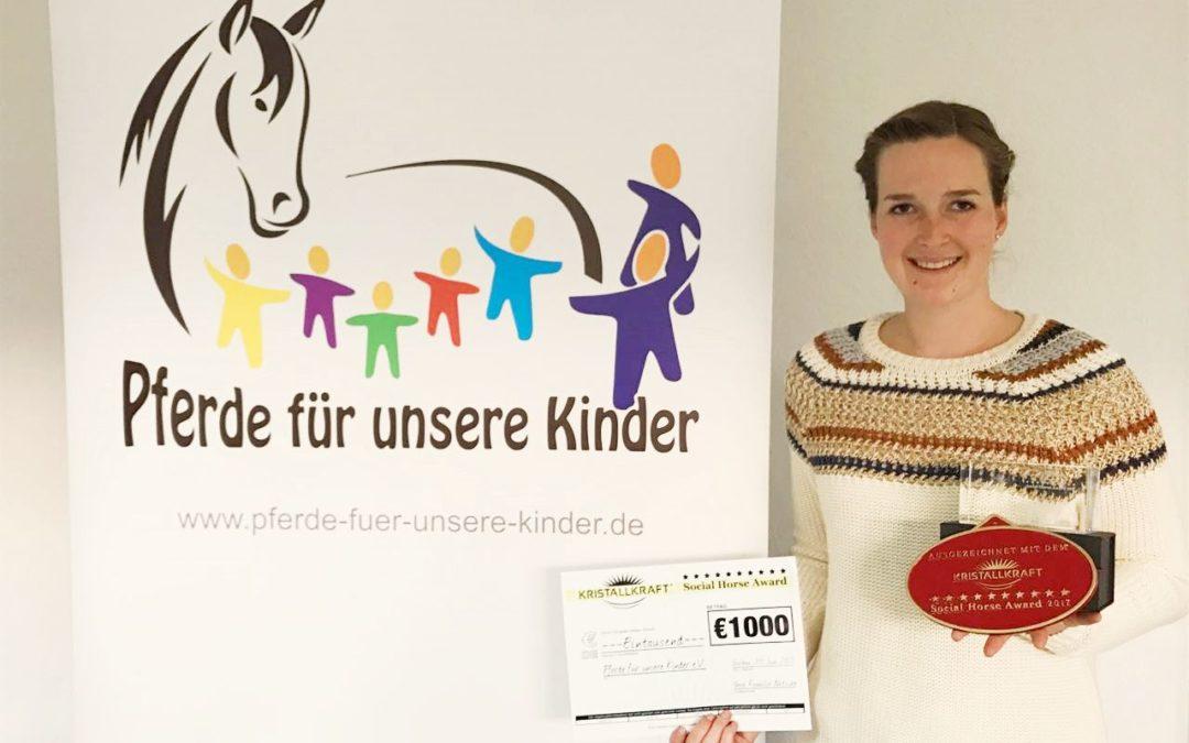 """""""Pferde für unsere Kinder e.V."""" erhält Auszeichnung"""