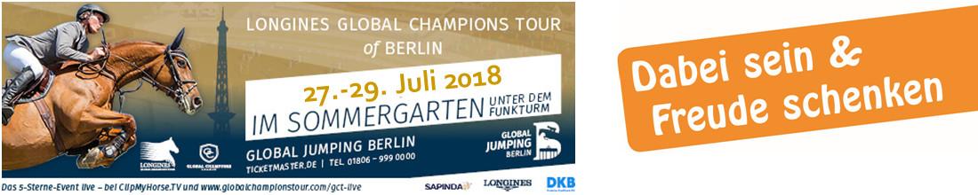 """Global Jumping Berlin 2018 - Pferde für unsere Kinder e.V. präsentiert den """"Ponyclub"""""""