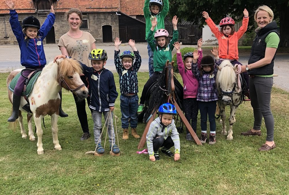Vorschulkinder besuchen das Rittergut Hofspiegelberg