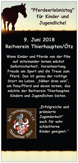 Pferdeerlebnistag beim Reitverein Thierhaupten - Pferde für unsere Kinder e.V.