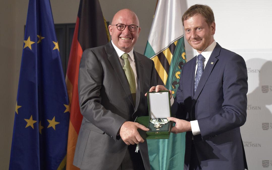 Sächsischer Verdienstorden für Volker Wulff