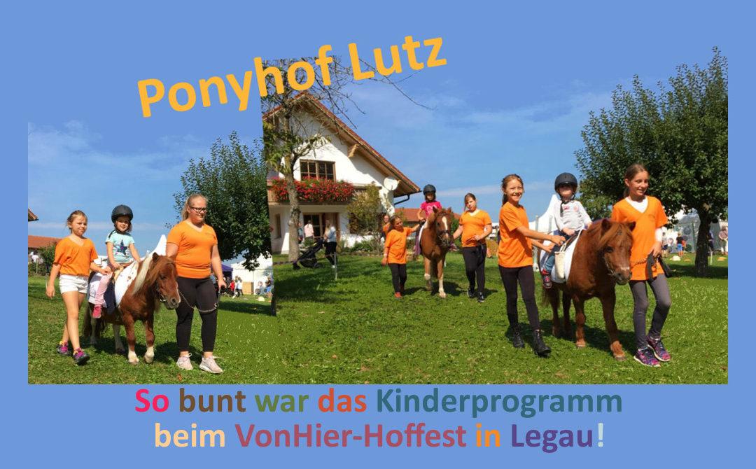 Buntes Kinderprogramm beim VonHier-Hoffest in Legau