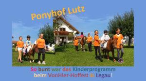 VonHier Hoffest Ponyhof Lutz 2018 - Pferde für unsere Kinder e.V. - Kutschfahrten und Ponyführen