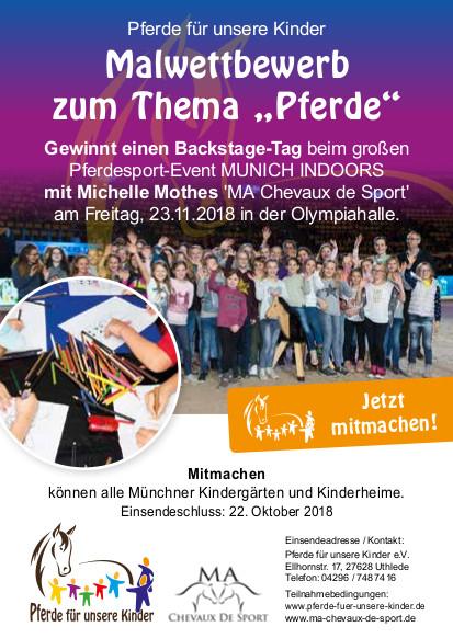 Plakat Munich Indoors Malwettbewerb - Pferde für unsere Kinder eV (I)