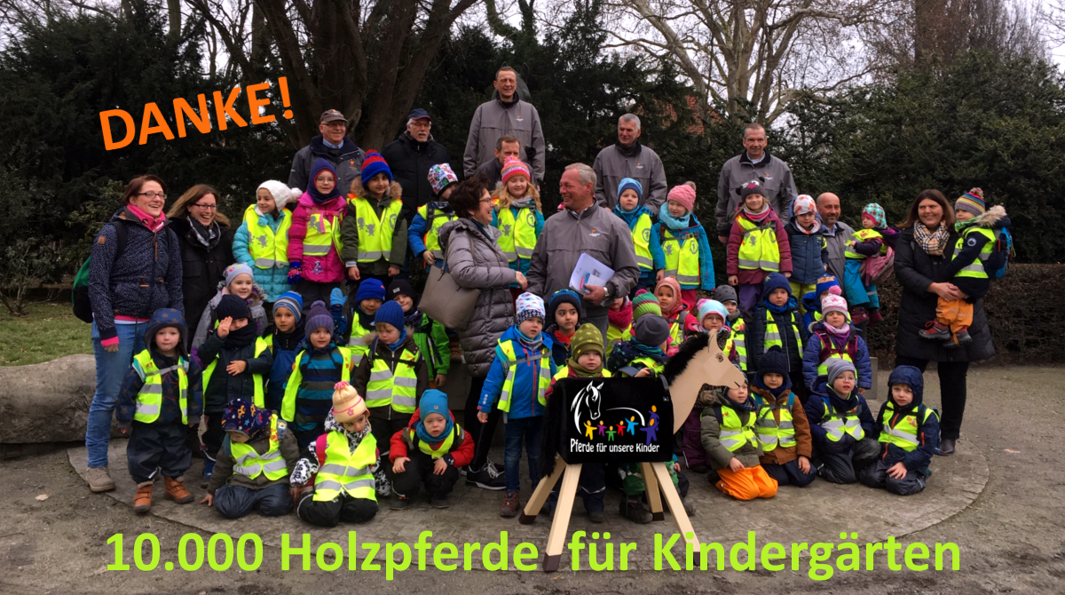 Holzpferdeübergabe 2019 Celler Verein der Freunde und Mitarbeiter des Landgestüts