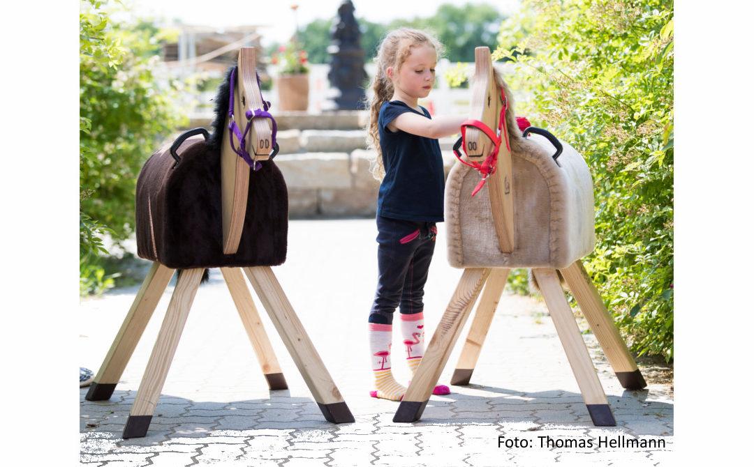 Holzpferdeverlosung bei der Faszination Pferd 2019 in Nürnberg