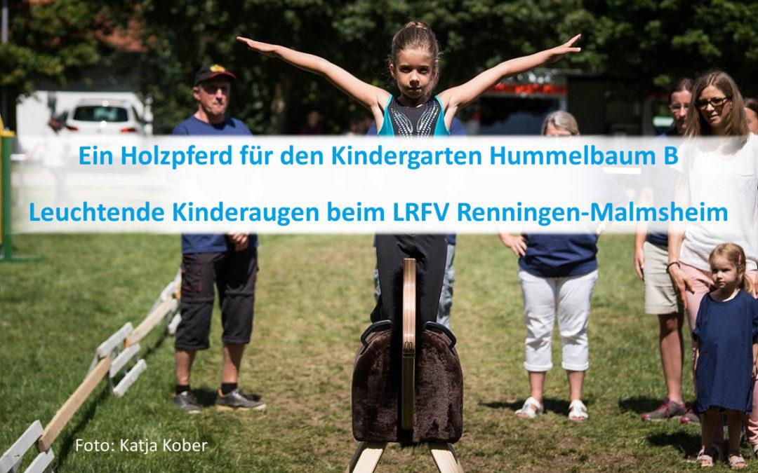 Ein Holzpferd für den Kindergarten Hummelbaum B