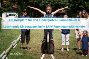 PfuKeV-Projekt 10.000 Holzpferde für Kindergärten - RFV Renningen-Malmsheim
