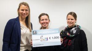 Spendenübergabe koelnmesse an PfuKeV - Ines Rathke, Dr. Christina Münch, Caterina Steffen 2019-12-06 fb