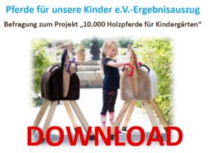 Befragung zum Projekt 10.000 Holzpferde für Kindergärten