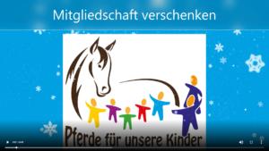 Geschenk-Mitgliedschaft - Pferde für unsere Kinder e.V.