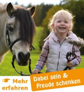 Dabei sein und Freude schenken - Pferde für unsere Kinder e.V.