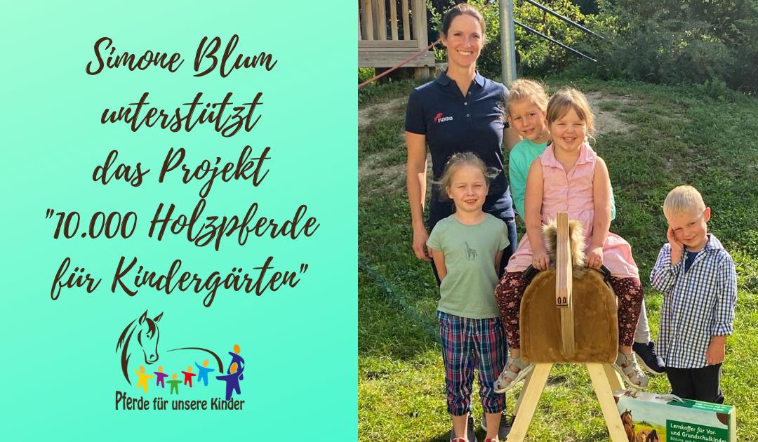 Zollinger Kindergarten erhält Holzpferd